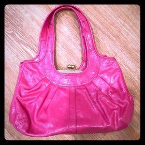 Authentic Coach, pink patent hobo handbag